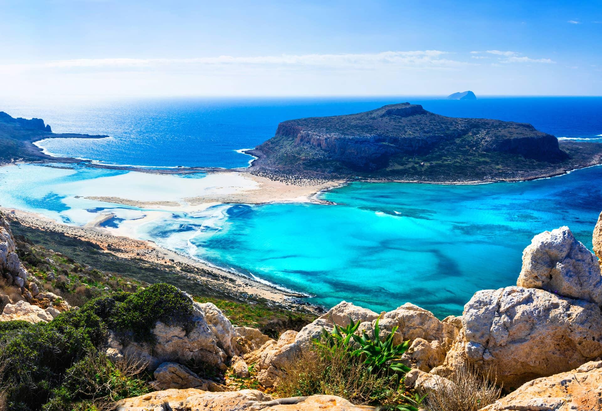 Vistas impresionantes de Creta, Grecia.