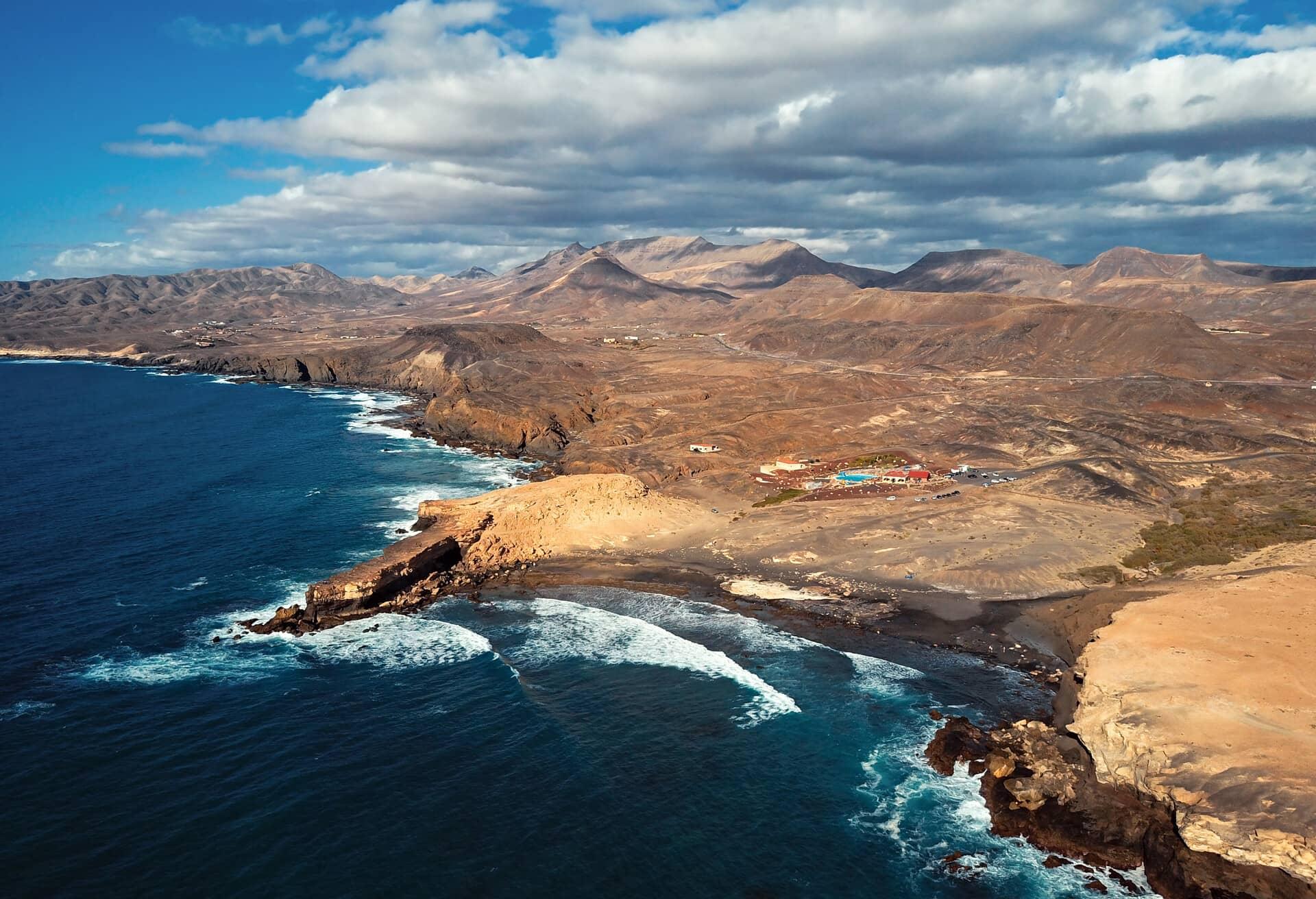 Impresionante vista de las islas Canarias en temporada baja.